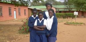 Uczennice szkoły dla dziewcząt w Chikuni. M.in. Agness i Bertha
